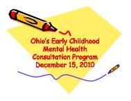 Ohio's Early Childhood y Mental Health Consultation Program y ...