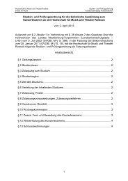 Studienordnung Konzertexamen - Hochschule für Musik und ...