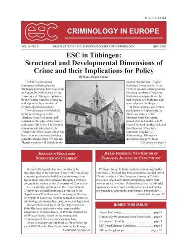 criminology in the society The latest tweets from european society of criminology (@esc_eurocrim)  official account of the european society of criminology.