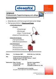 SEMINAR - Cleanfix AG