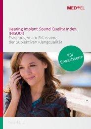 Hearing Implant Sound Quality Index (HISQUI) Fragebogen ... - Med-El
