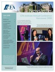 newsletter - local CFA Societies