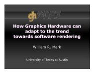 How Graphics Hardware can adapt to the trend towards software ...