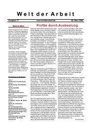 WdA März 2005 - Welt der Arbeit