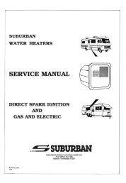 Suburban water heater service manual