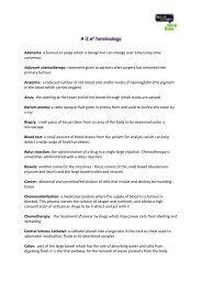 A-Z Terminology - Bowel Cancer UK
