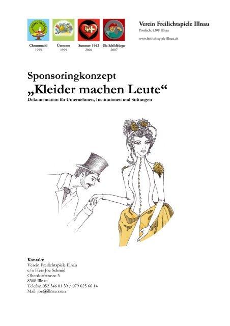 """""""Kleider machen Leute"""" - Verein Freilichtspiele Illnau"""