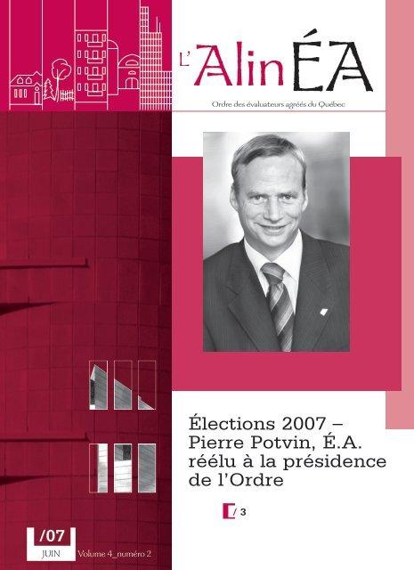 juin 2007 - Ordre des évaluateurs agréés du Québec