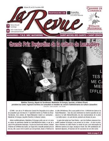 Octobre 2010 - Chambre de commerce de la Haute-Matawinie