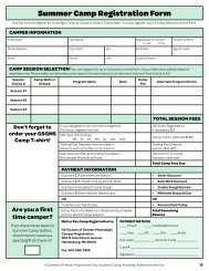 Summer Camp Registration Form - Girl Scouts of Greater Mississippi