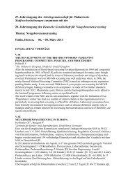 27. Jahrestagung der Arbeitsgemeinschaft für Pädiatrische ...