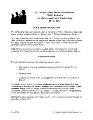 St. Joseph School District Foundation Phil F ... - SJSD Home Page