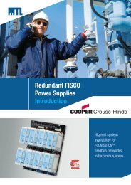 Redundant FISCO Power Supplies Introduction - MTL Instruments