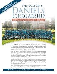 SCHOLARSHIP - The Daniels Fund