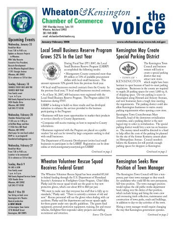 The Voice - Jan-Feb 2008 - Wheaton-Kensington Chamber of ...