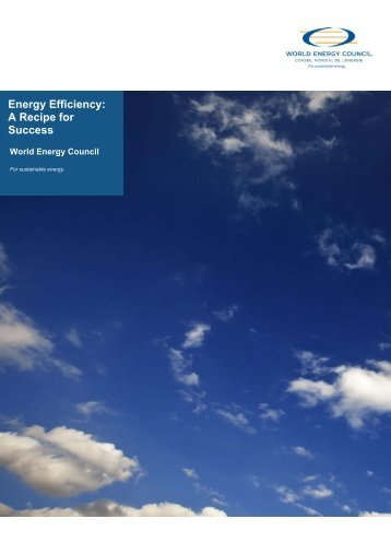 Energy Efficiency: A Recipe for Success - World Energy Council