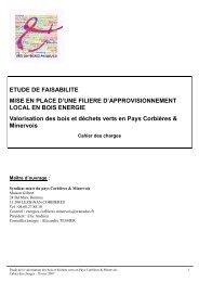 cahier des charges étude gisement - Pays Corbières & Minervois