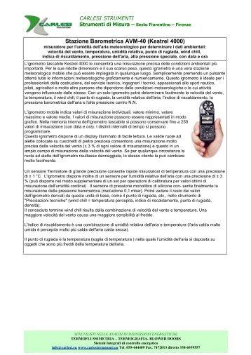 Stazione Barometrica - Carlesi strumenti