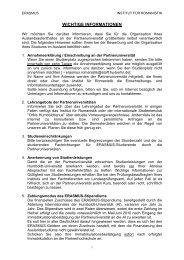 WICHTIGE INFORMATIONEN - Institut für Romanistik - Humboldt ...