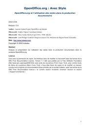 OpenOffice.org : Avec Style - Framasoft