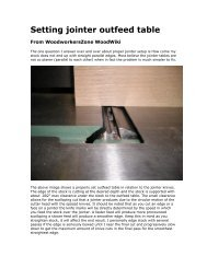 Setting jointer outfeed table - gerald@eberhardt.bz
