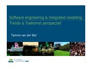 IT perspectief in integrated modelling