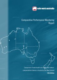 Comparative Performance Monitoring Report - WorkCover ...