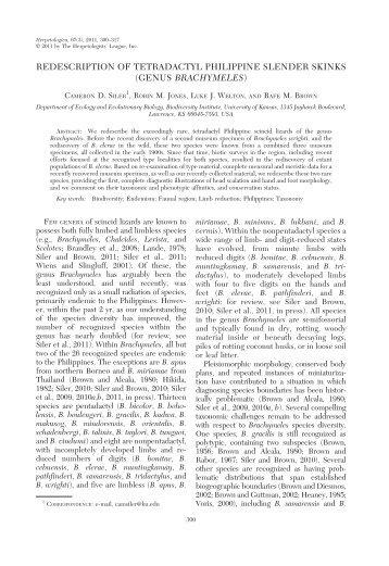 genus brachymeles - BioOne