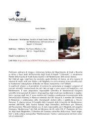 paolo biagi - web journal - Università degli studi di Napoli L'Orientale