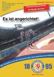 Heft 01: Werder Bremen - FanPresse Braunschweig