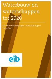 'Waterbouw en waterschappen tot 2020' van het ... - Cobouw