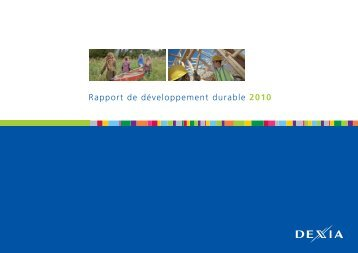 Rapport de développement durable 2010 - Comité 21 - Pays de la ...