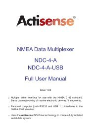 NMEA Data Multiplexer NDC-4-A NDC-4-A-USB Full User Manual