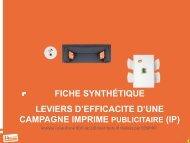 fiche synthétique leviers d'efficacite d'une campagne imprime ...
