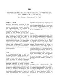 treating hemorrhage from secondary abdominal pregnancy