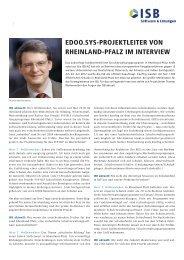 edoo.sys-Projektleiter von Rheinland-Pfalz im Interview - ISB AG