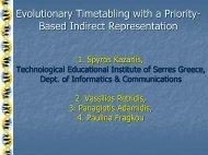 Evolutionary Timetabling with a Priority- Based Indirect Representation