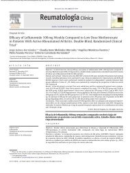 Efficacy of Leflunomide 100 mg Weekly Compared to Low Dose ...