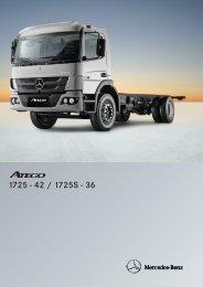 Atego 1725 - 42 / 1725S - 36 - Mercedes Benz