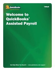 Welcome to QuickBooks® Assisted Payroll - Intuit