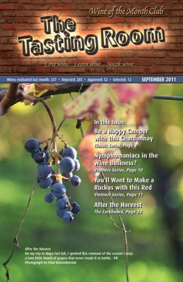 SEPTEMBER 2011 - Wine of the Month Club