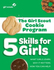 The Girl Scout Cookie Program - 5 Skills for Girls - Girl Scouts of the ...