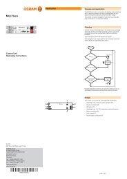 Operating instructions MULTIeco - Osram