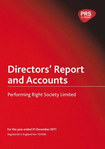2011 PRS report and accounts (PDF)