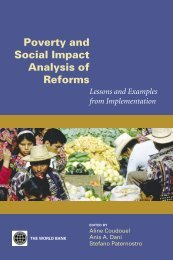 Poverty and Social Impact Analysis of Reforms - ISBN ... - CommDev