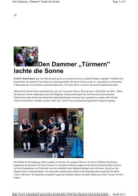 """Den Dammer Türmern"""" lachte die Sonne - Five in Harmony"""