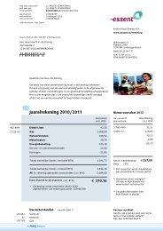 Jaarafrekening 2010/2011 - Energie Onafhankelijk