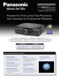 PT-RZ470 Brochure - Projectisle
