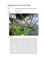 BRIEFING DOCUMENT FOR SEMESTER 1 DESIGN - MArch(Prof ...