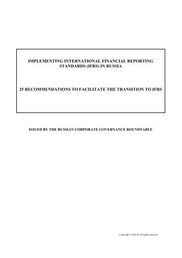 implementing international financial reporting standards - OECD